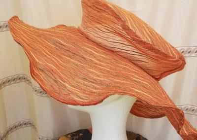 Chapeau femme CEREMONIE – Capeline tulle brodé