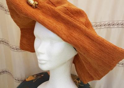 Chapeau femme CEREMONIE – capeline base rectangulaire lainage