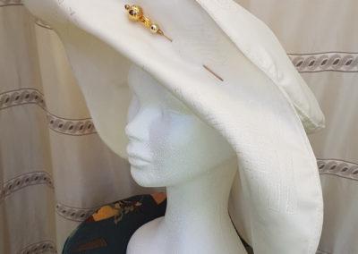Chapeau femme ceremonie Capeline taffetas