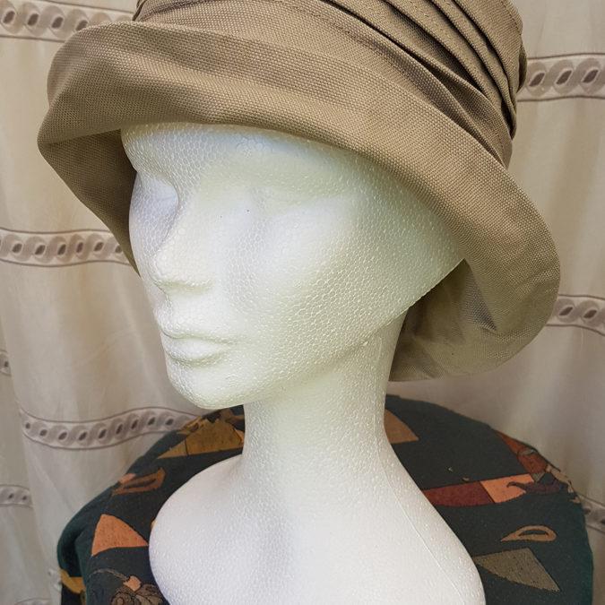 Chapeau ETE – Mosa  plissé coton lin